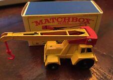Vintage Matchbox Lesney Reg Wheel #11 C Taylor Jumbo Crane MIB
