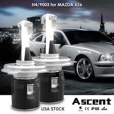 H4 9003 LED Headlight Conversion Kit Bulbs High Low Beam For Mazda 626 2002-1998