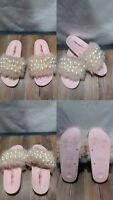 JEFFREY CAMPBELL Pearl Crystal Embellished Slide Sandal, Size 6US/37EURO