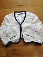 Women's Dotti Cropped Black & White Jacket, Size 8