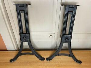 Antique Adjustable Heywood Eclipse School Desk Legs