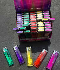Slide Lite * 5 Colors* Electronic Lighters- Lot Of 50 - Refillable