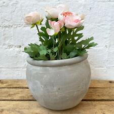Concrete Cement Home Garden Round Flower Herb Planter Container Bowl Pot 16cm