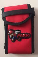 Official Nintendo DS DSi Lite Mario Switch N Carry Carrying Bag Pouch Holder Red