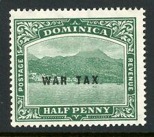 DOMINICA 1918 WAR TAX 1/2d Deep Green. SG 56. Mint Never Hinged. (AT355)
