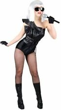 Ladies Pop Star Judge Costume Lady Gaga Celebrity Fancy Dress Military MEDIUM