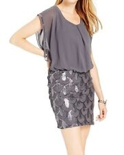 SL Fashions New Sequined Blouson Dress Size 4 #BN 1302