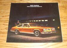 Original 1975 Pontiac Ventura Foldout Sales Brochure 75