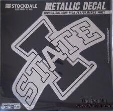 "Iowa State Cyclones 12"" Large Silver Metallic Vinyl Auto Decal University Of"