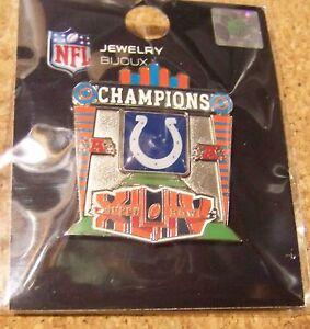 2010 SB S.B. Super Bowl 44 XLIV Indianapolis Colts AFC Champions lapel pin