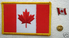 Canada National Flag Pin and Patch Embroidery