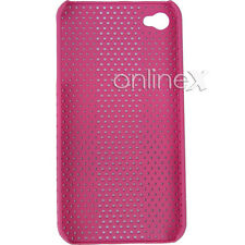 Carcasa iPHONE 4  4S  PERFORADA dura y ligera Color ROSA Alta Calidad a568