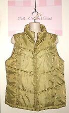 MERONA ~ Sage Green Cozy Puffer Light Weight Zip Up Vest Sz L * VERY GOOD COND.