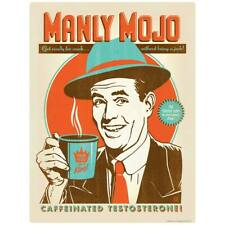 Manly Mojo Coffee Decal Peel and Stick Decor