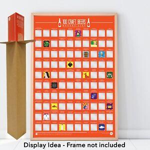 100 Craft Beers Bucket List - Scratch off Poster