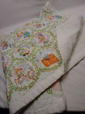 "Vintage Baby Quilt Comforter Blanket Nursery Rhyme HUMPTY DUMPTY MOTHER 48""x36"""