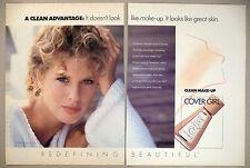 Cover Girl Make-up 2-Page PRINT AD - 1990 ~ Rachel Hunter
