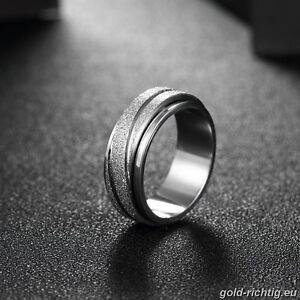 Edelstahl Damen Drehring Spinnerring Damenring Spinner Ring Silber Geschenk