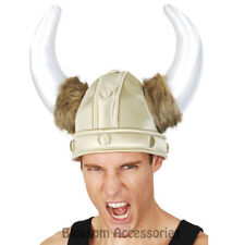 A832 Roman Sot Viking Helmet Horns Hat Medieval Gladiator Armour Costume Party