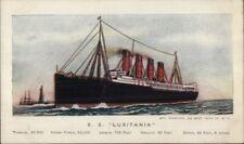 Steamship SS Lusitania c1910 Postcard jrf
