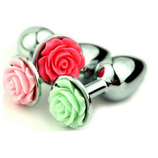 Plug butt metal strainless alloy Anal Crystal Jewelry Beads forma rosa tapon S