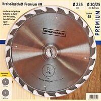 Kreissägeblatt 58 Premium HM 235 x 30/25mm 24Z Sägeblatt Made by BOSCH