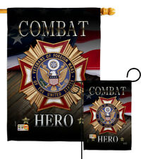 Veterans Hero Military Combat United States Foreign Wars Garden House Yard Flag