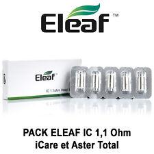 5 Résistances / Mèches ELEAF IC 1,1 Ohm pour ICARE et ASTER TOTAL - AUTHENTIQUE