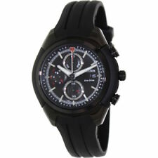 Citizen CA0285-01E Mens Watch Eco-Drive Chronograph Black Dial Black Rubber Band