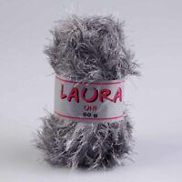 """1kg Fransengarn """" LAURA GRAU """" Fransenwolle Effektgarn Brazilia Wolle"""