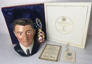 Rare Royal Doulton RONALD REAGAN Character Jug Mug w Original Box and Papers