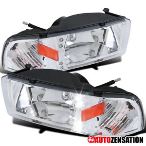 For 1994-2001 Dodge Ram 1500 2500 3500 Pickup Clear Headlights Head Lamps+LED