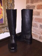 FRYE WOMENS CAMPUS BOOTS BLACK 7 WOMENS LEATHER NEW RUBBER SOLE