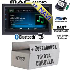 Autoradio für Toyota Corolla Verso silber DAB NAVIGATION USB Bluetooth DAB+ Navi