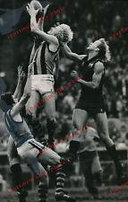 1978 Peter Knights marking Hawthorn LARGE  Black & White Press photo Hawks 2