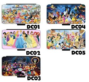 Disney Characters phone case collage art leather wallet mobile case