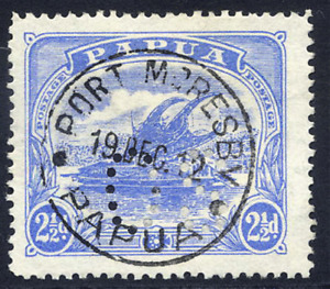 PAPUA 1911-12 OFFICIAL LAKATOI 2½D SUPERB PORT MORESBY CDS USED. GIBBONS O41.