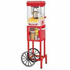 New listing Nostalgia Electrics Popcorn Cart Machine Popper Maker Vintage Red Stand Tiltdoor