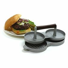 Aluminum Double Burger Press Hamburger Meat Grill Patty Maker