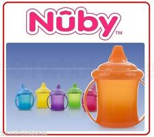 ❤ New Nuby Non Drip No-Spill™ Twin Handle Tinted Spout Cup BPA Free 207ml 9M+ ❤