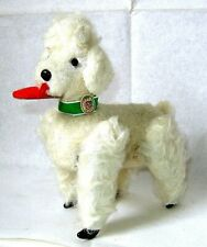 AUTOMATE CARL - RARE CANICHE BLANC MARCHEUR DES ANNEES 50 - MADE IN WEST GERMANY