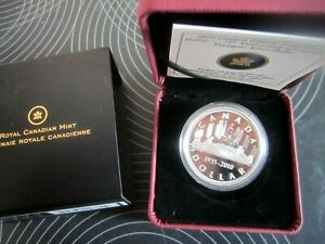 75th Anniversary Voyageur Silver Dollar 2010 Canada limited Edition Proof