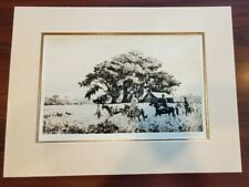 """Aiden Lassell Ripley Dry Point Etching """"Point on Quails"""" Estate Stamped 18 by 13"""