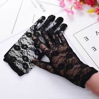 Short Lace Gloves Wrist Mittens Driving Wedding Party Women Full Finger Gloves J