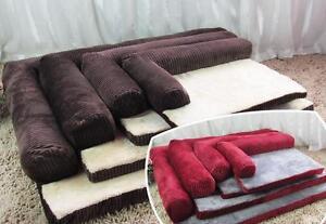Comfortable Soft Cat Sofa Bed Flocking House Mat Pet Dog Cushion Mat Stripe Pad