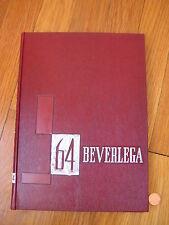vtg 1964 Beverly High School YEARBOOK Massachusetts MA Beverlega boston photo bk