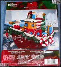Bucilla CHRISTMAS TUGBOAT Felt Christmas Decor Kit – 86204 Santa,Penguin,Pelican