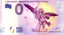 50 MONT-SAINT-MICHEL Archange, Verso Belém, 2017, Billet 0 € Souvenir