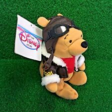 NEW Disney Mini Bean Bag PILOT POOH 8'' Winnie The Pooh Plush Toy Bear - MWMT