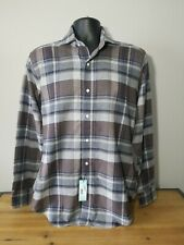 🆕️ $248 Peter Millar Collection Plaid Flannel Button Down Shirt, Size S
